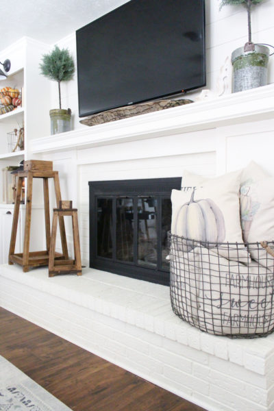 DIY Brass Fireplace Screen Makeover Using Paint