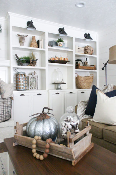 Styling Shelves for the Fall Season