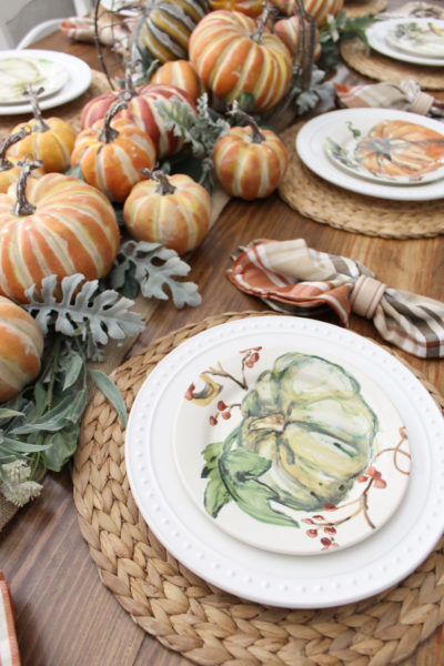 Fall Rustic Harvest Table Nature Inspired