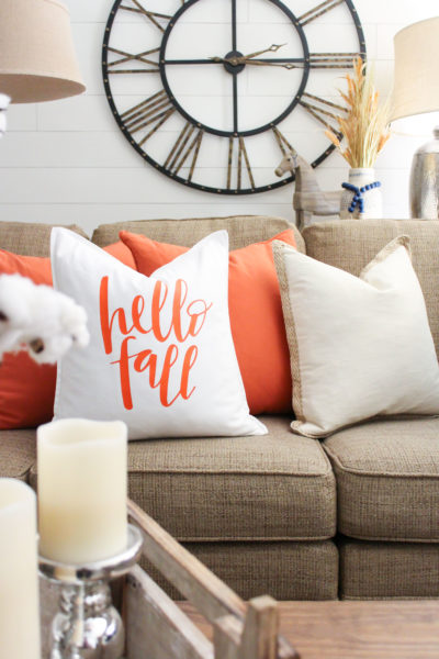 DIY Fall Pillow Tutorial with Silhouette Cameo