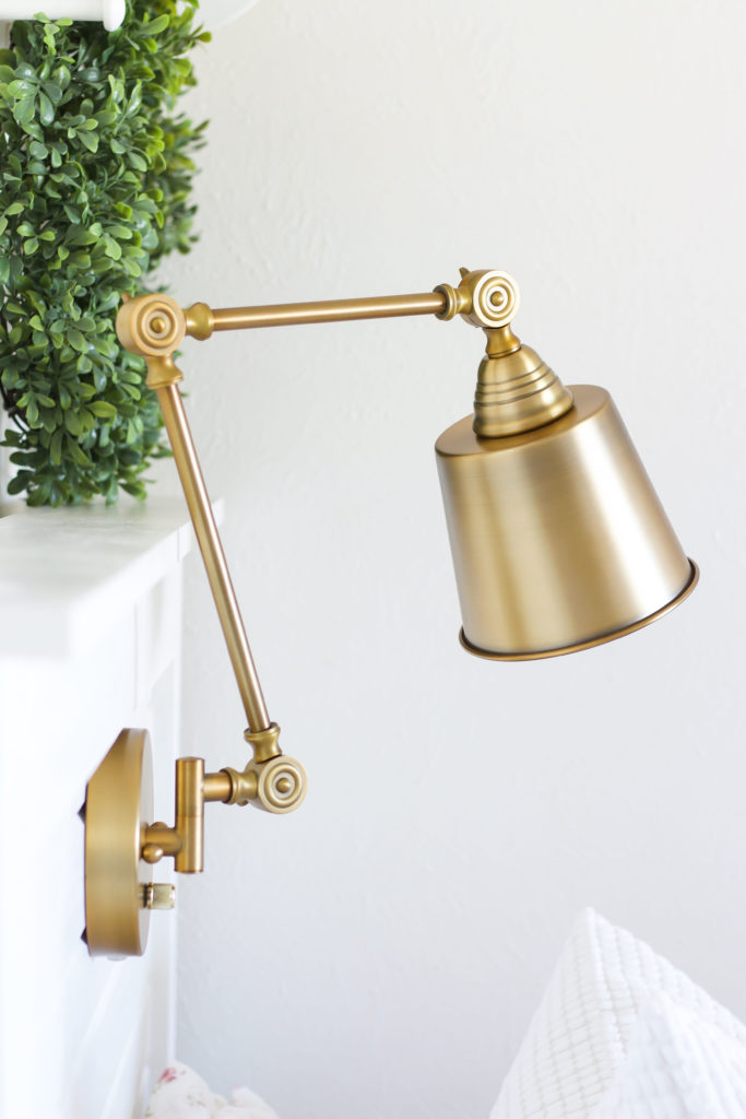 DIY-headboard-light-brass-683x1024.jpg & DIY Headboard Light with a Plug-In Wall Lamp - TxSizedHome