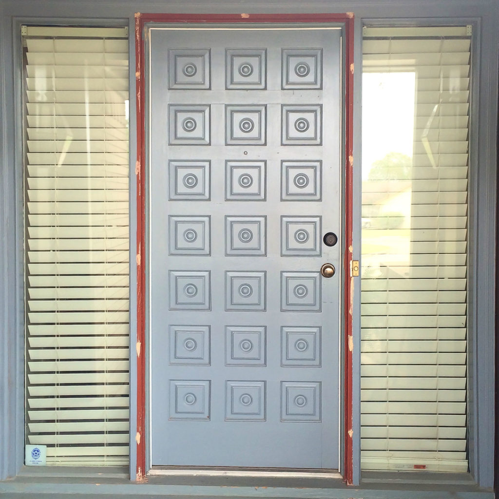 Front Door Refresh with JUST Paint - TxSizedHome