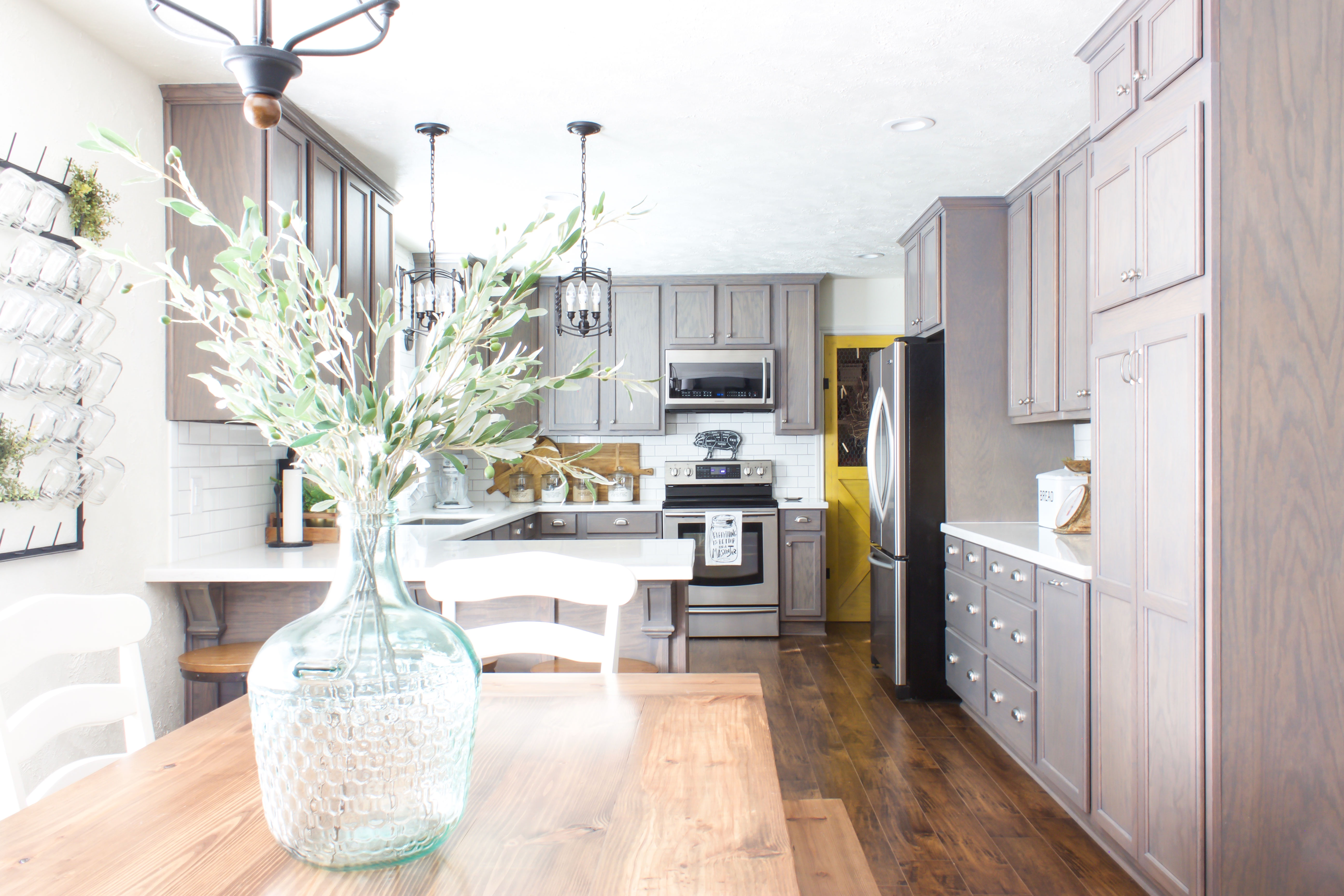 Kitchen-remodel-gray-cabinets